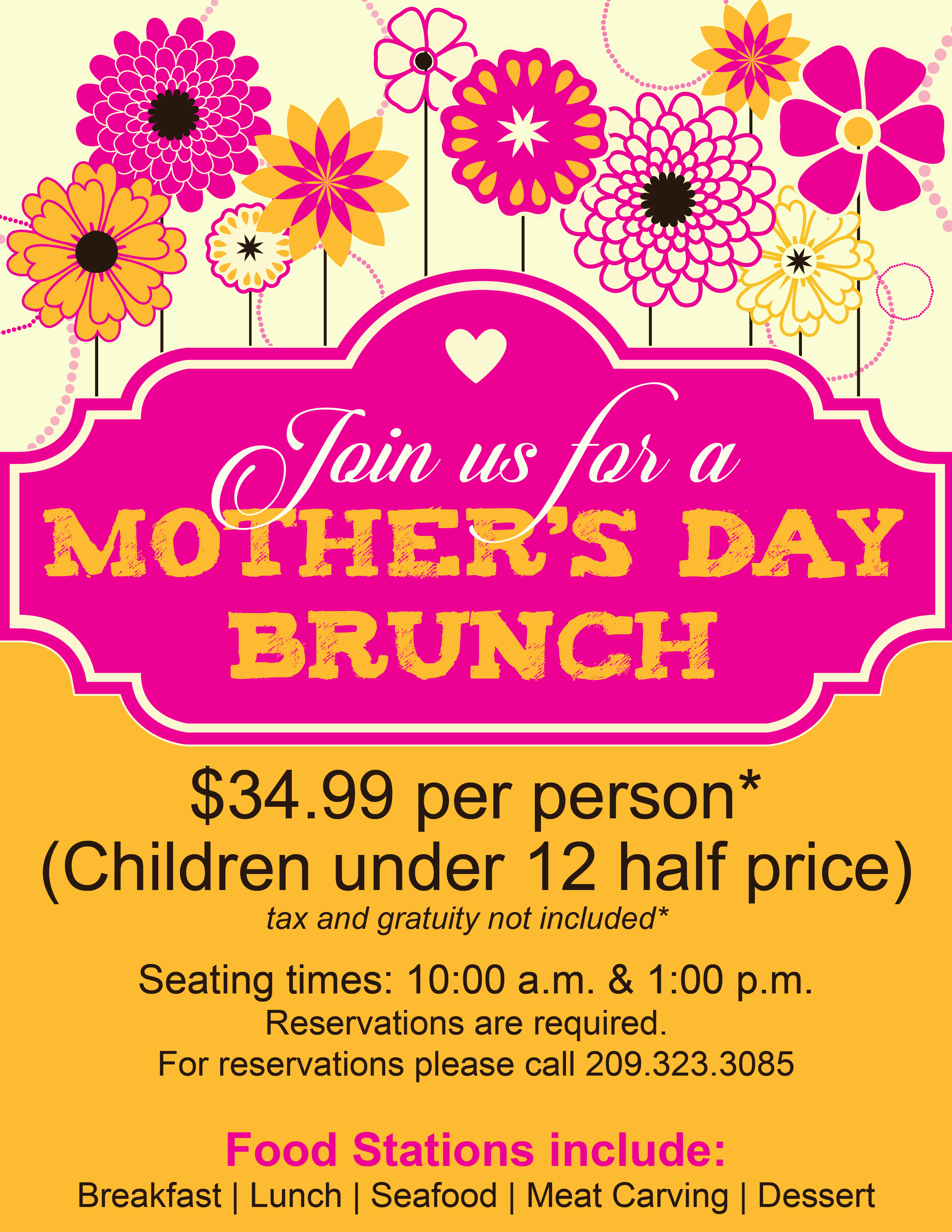 Mothers Day Brunch 2015 – Mothers Day Flyer